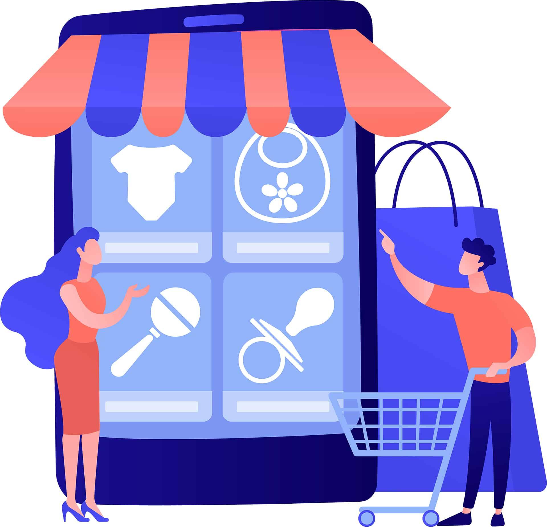 Online shopping vector concept metaphor